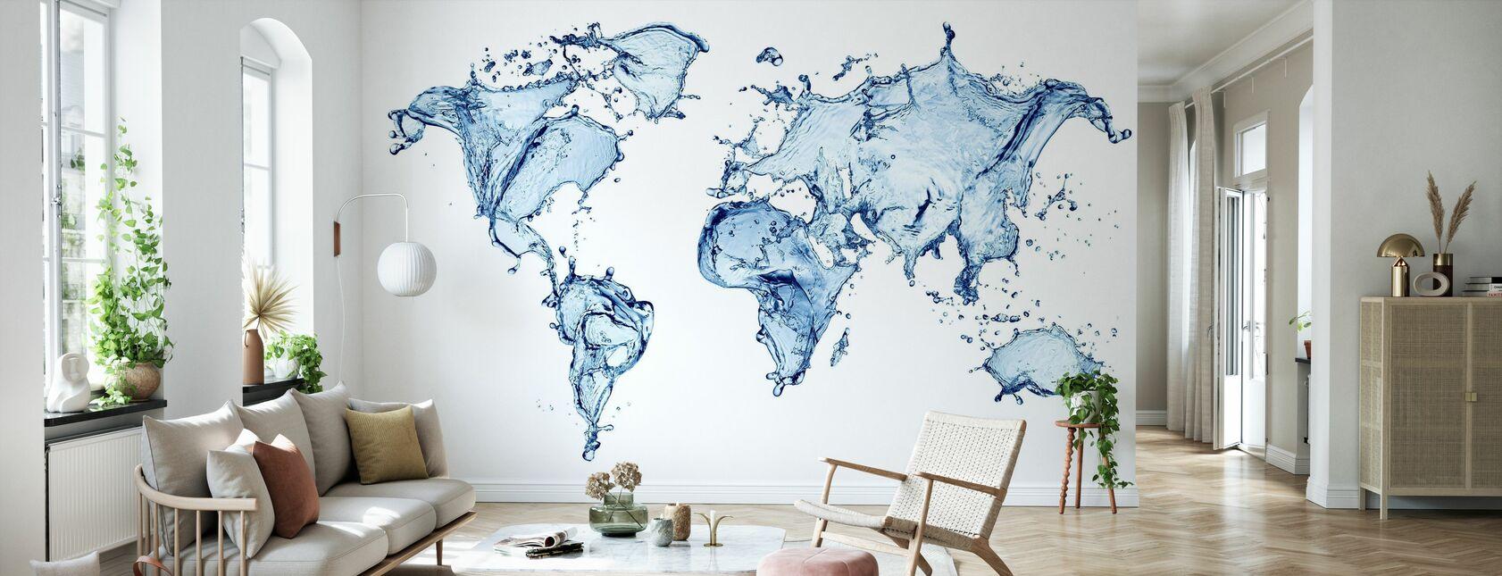 Mondo dell'acqua - Carta da parati - Salotto
