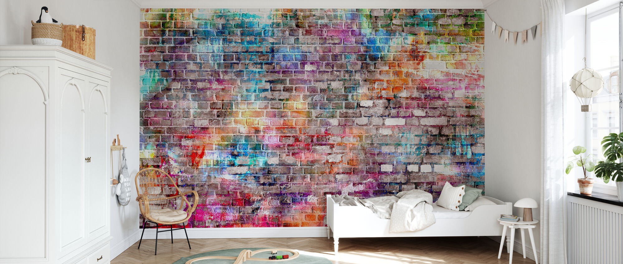Urban Art Bricks - Wallpaper - Kids Room