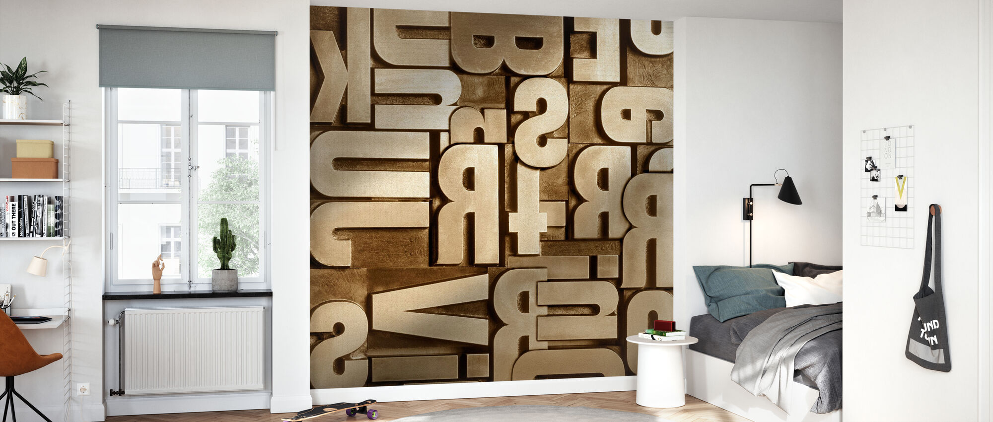 Typographic Appearance - Wallpaper - Kids Room