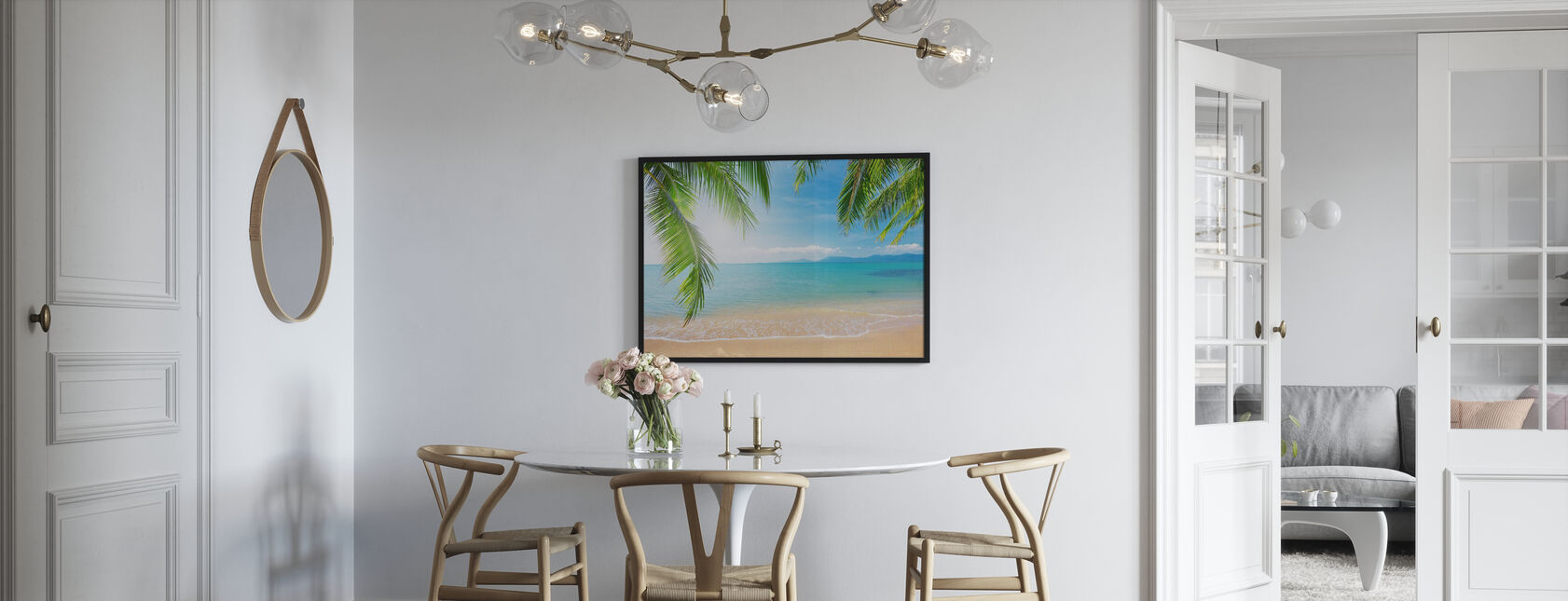 Tropical View from under a Palm Tree - Poster - Kitchen