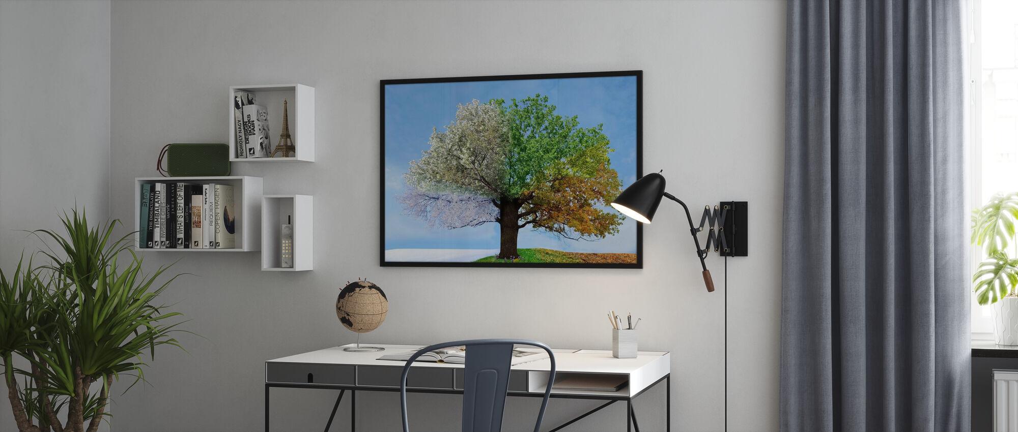 Baum der vier Jahreszeiten - Gerahmtes bild - Büro