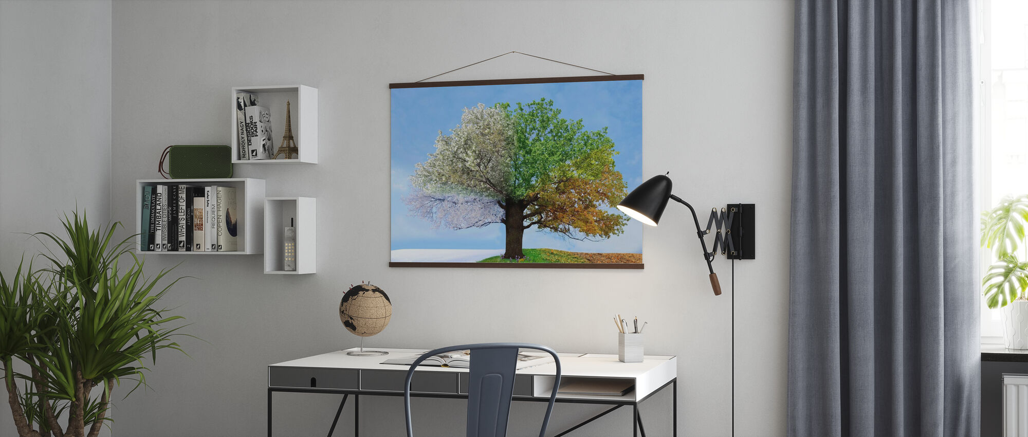 Tree of Four Seasons - Poster - Office