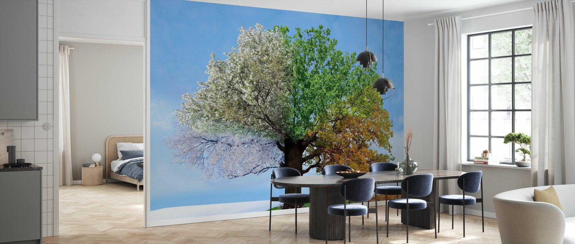 Tree of Four Seasons - Wallpaper - Kitchen