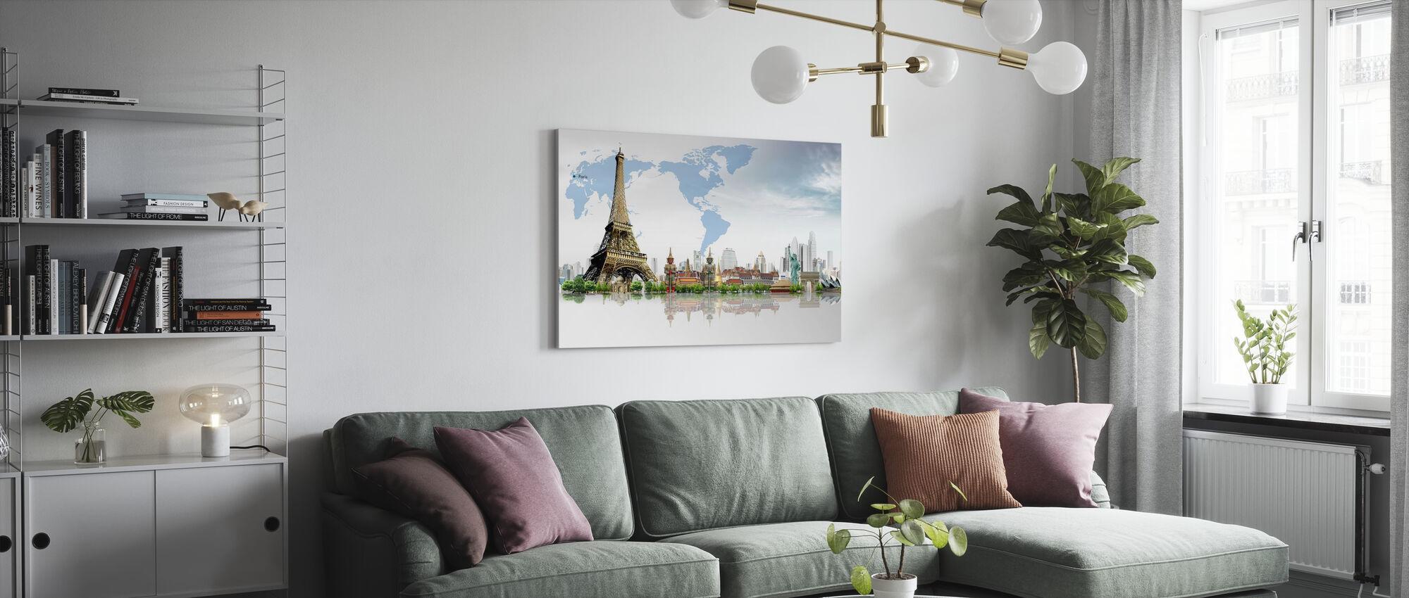 Travel Concept - Canvas print - Living Room