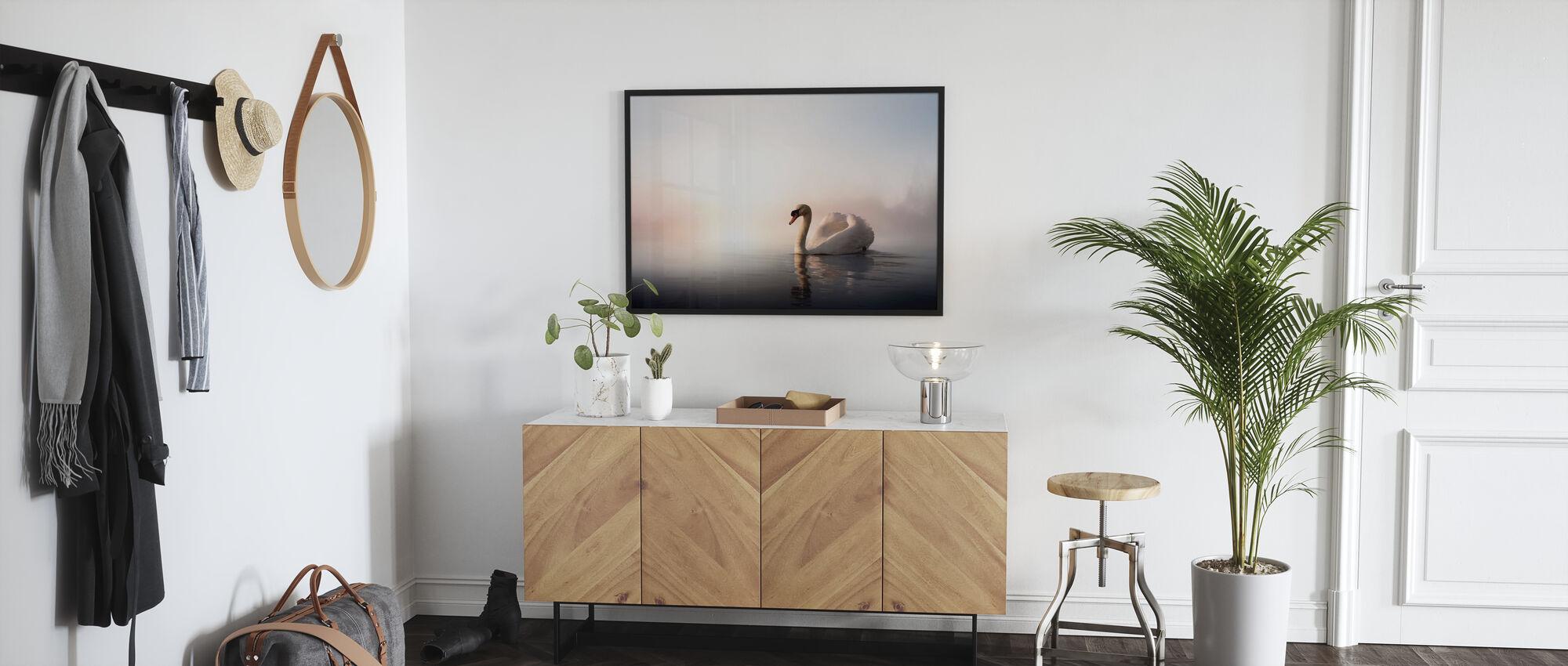 Swan Floating - Poster - Hallway