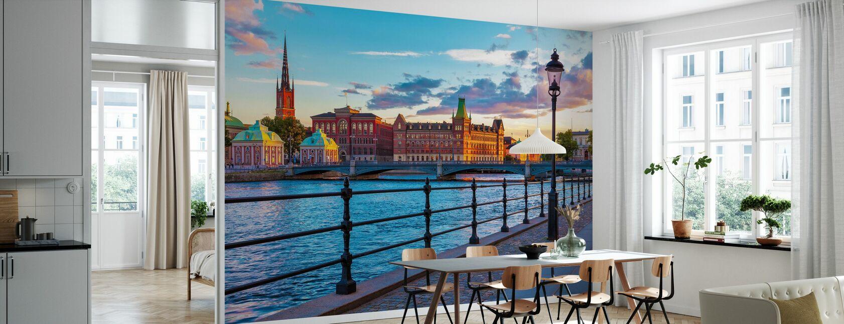 Stockholm - Oude Stad - Behang - Keuken