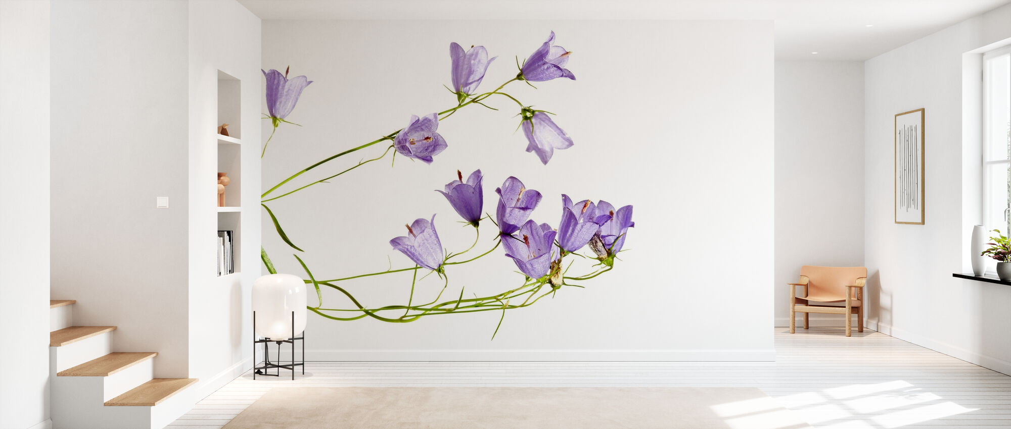 Sheer Blubells - Wallpaper - Hallway