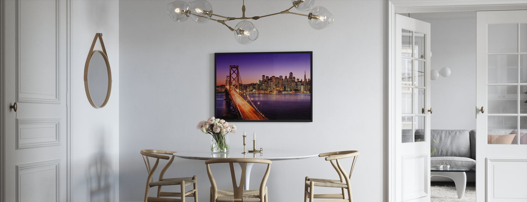 San Francisco Bay Bridge - Framed print - Kitchen