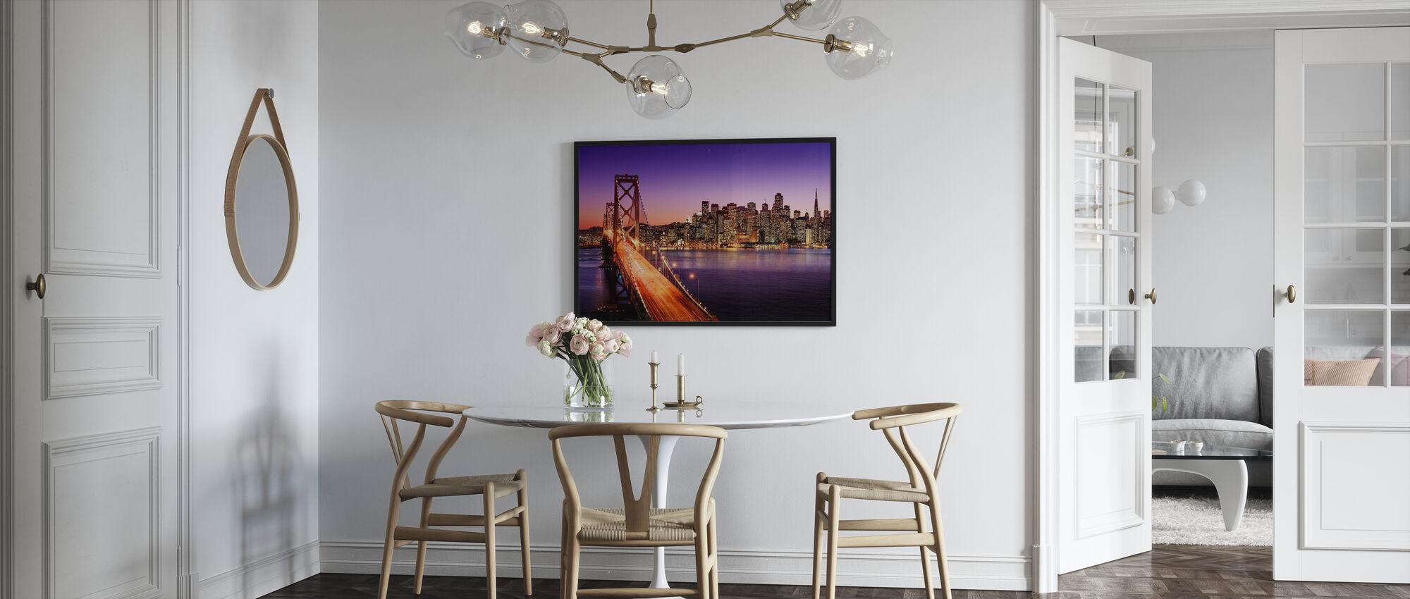 San Francisco Bay Bridge - Framed print - Kitchen
