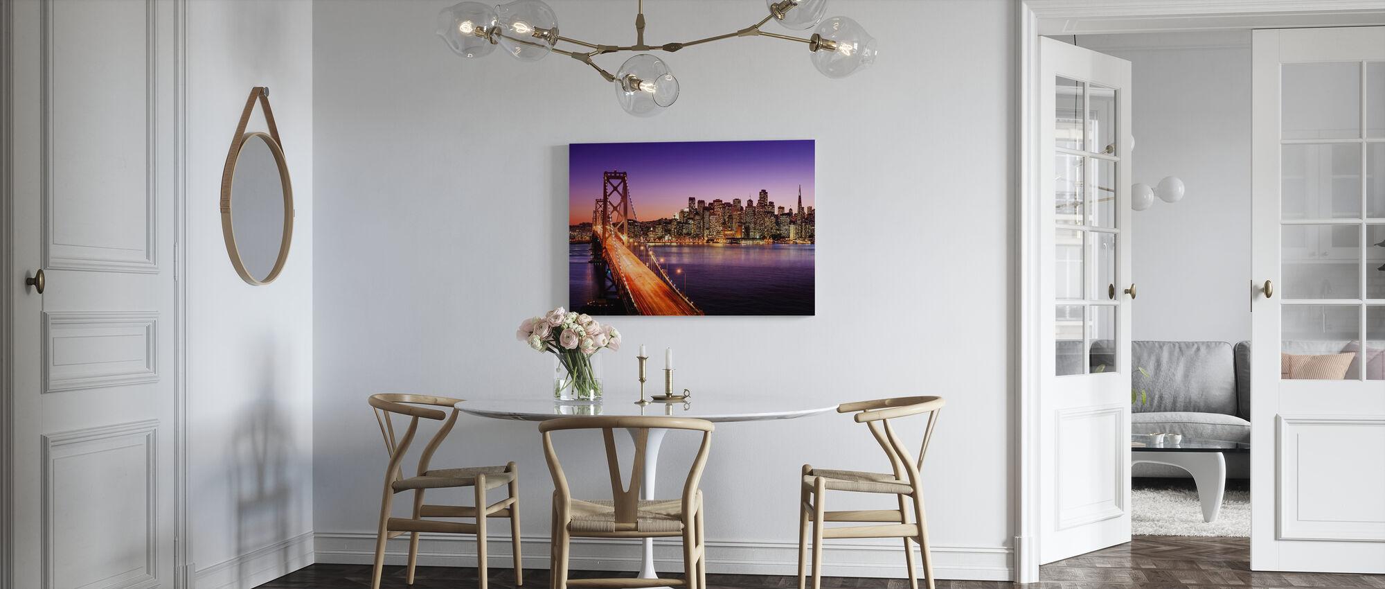 San Francisco Bay Bridge - Canvastavla - Kök