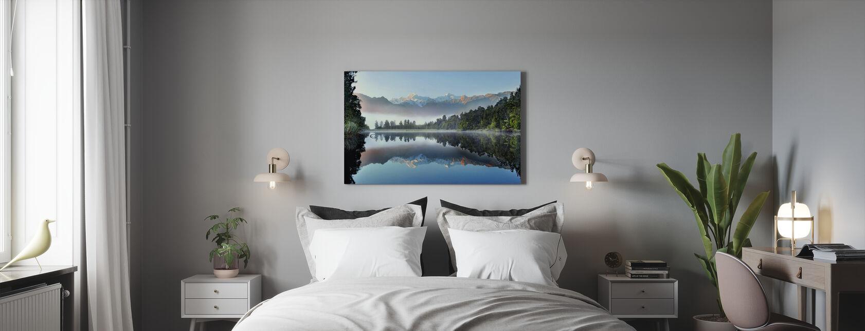Riflesso del Lago Matheson - Stampa su tela - Camera da letto
