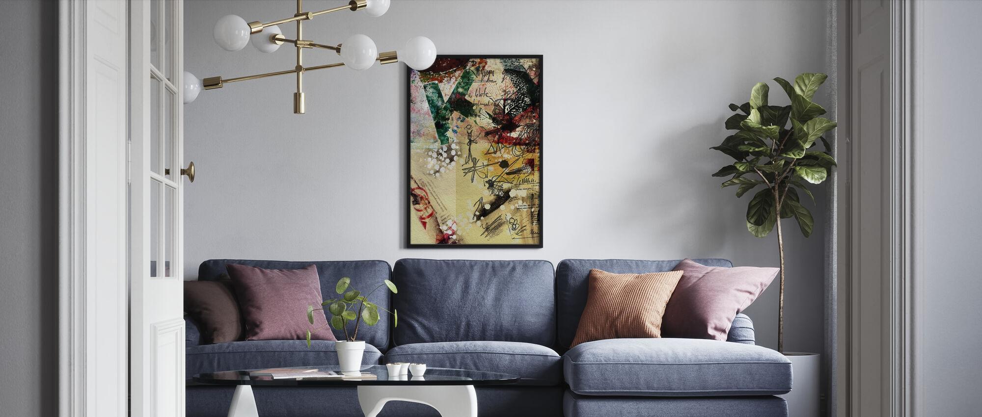 Juliste kollaasi - Kehystetty kuva - Olohuone