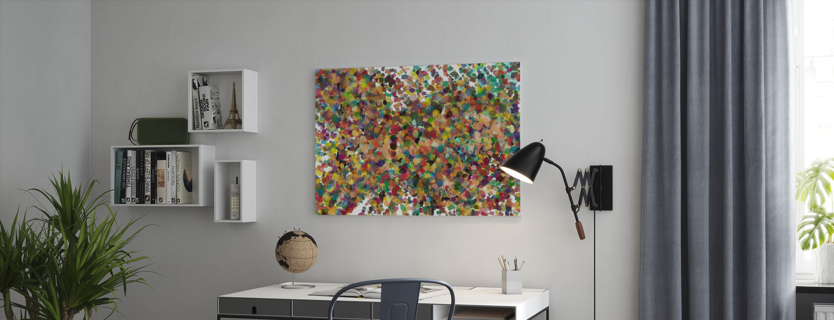 Pop Art Confetti - Canvas print - Office