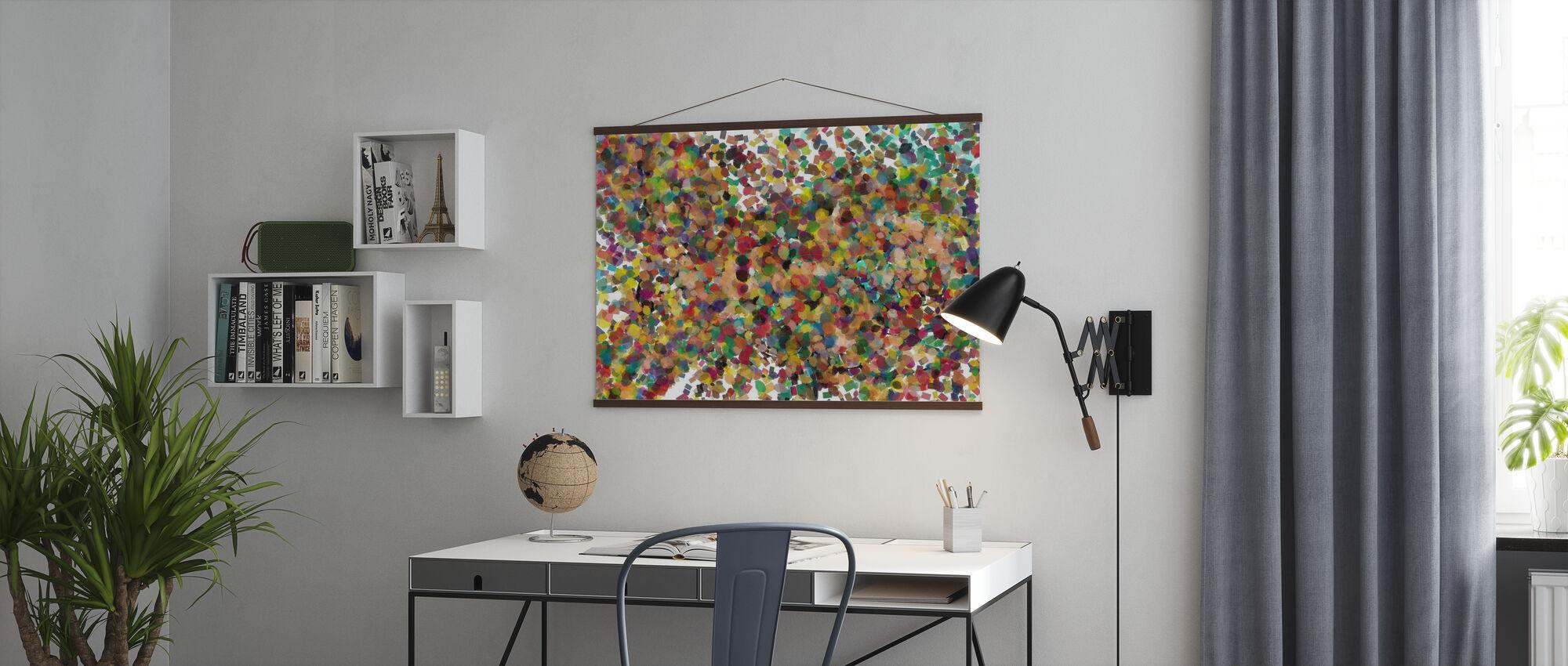 Pop Art Confetti - Poster - Kantoor