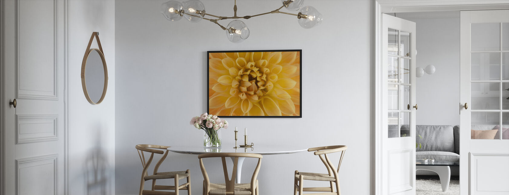 Amber Dahlia - Framed print - Kitchen