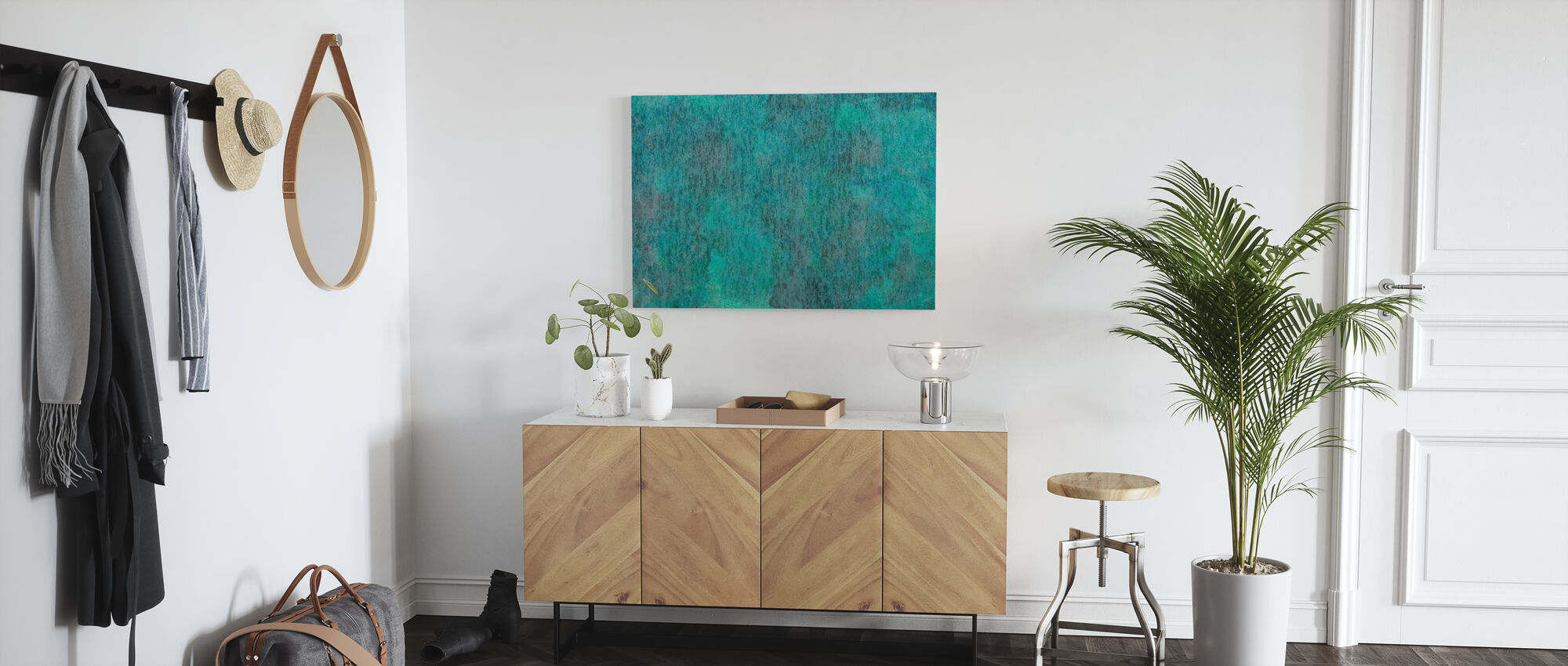 Copper Oxidation on Metal - Canvas print - Hallway