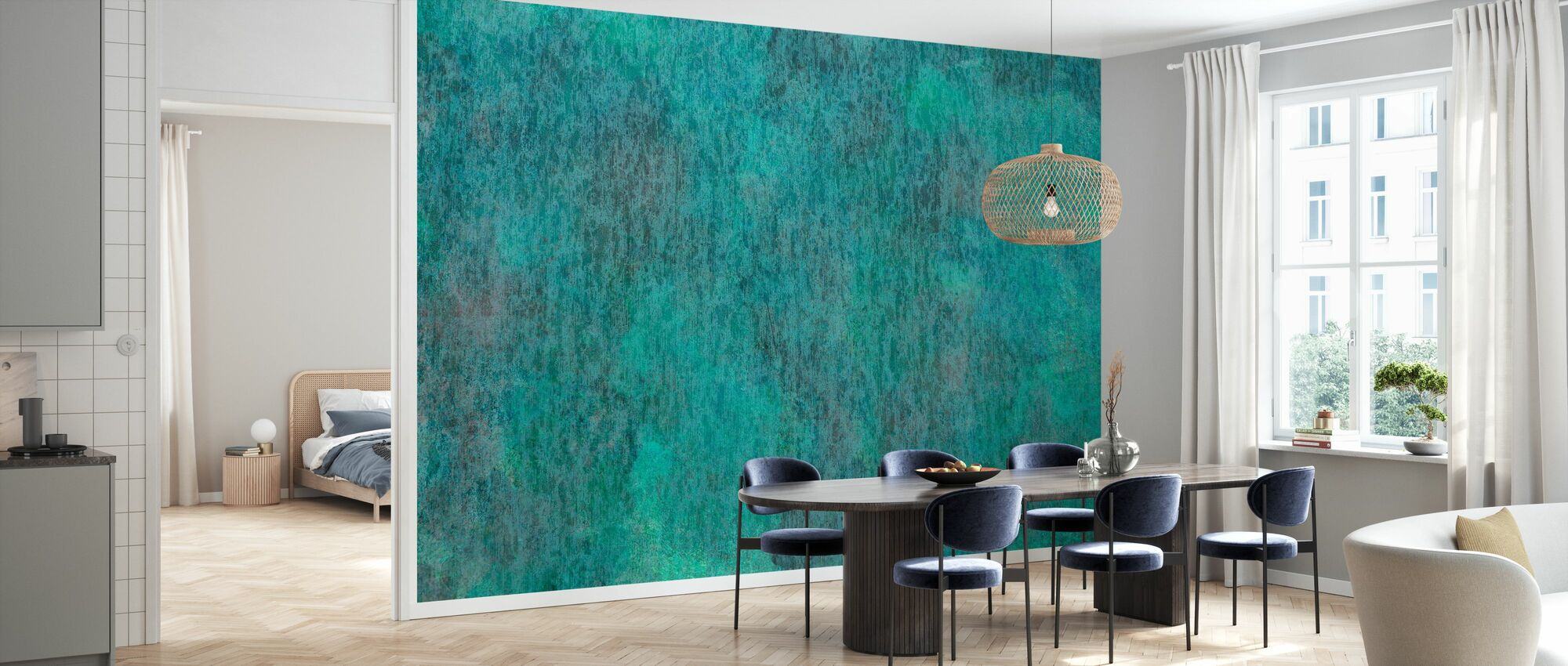 Copper Oxidation on Metal - Wallpaper - Kitchen