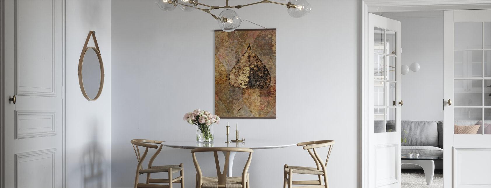 Upadły wzór liści brzozy - Plakat - Kuchnia