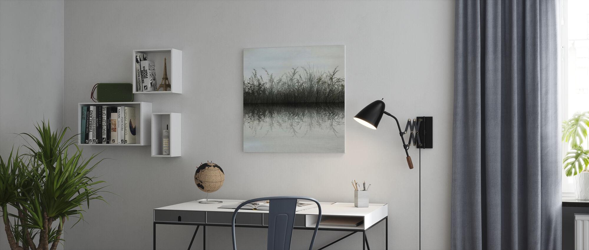 Gräs Vatten Reflektion - Canvastavla - Kontor