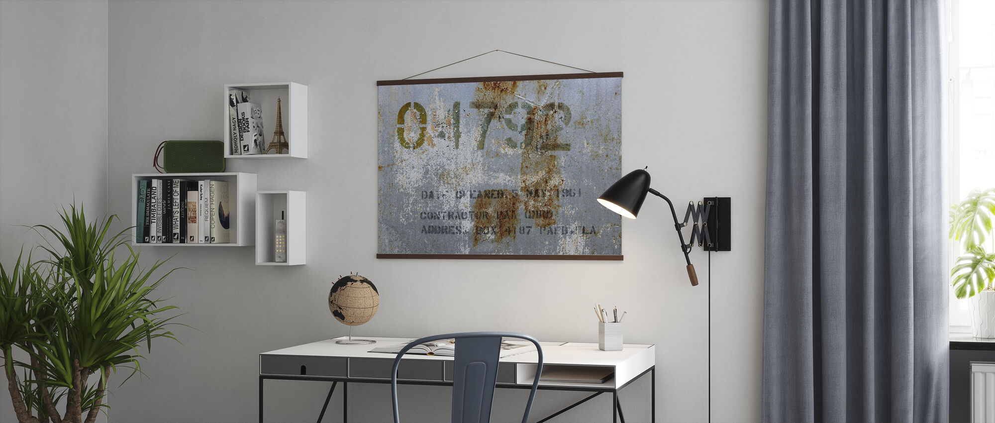 Old Derelict Oil Tank - Poster - Office