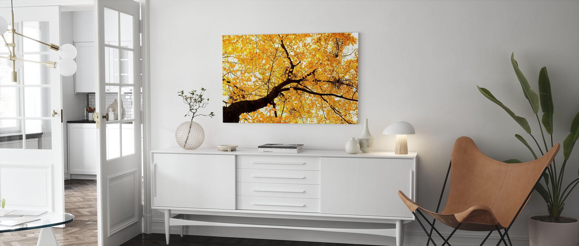 Golden Leaves - Canvas print - Living Room