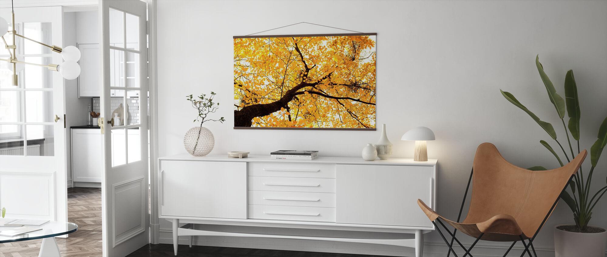 Golden Leaves - Poster - Living Room