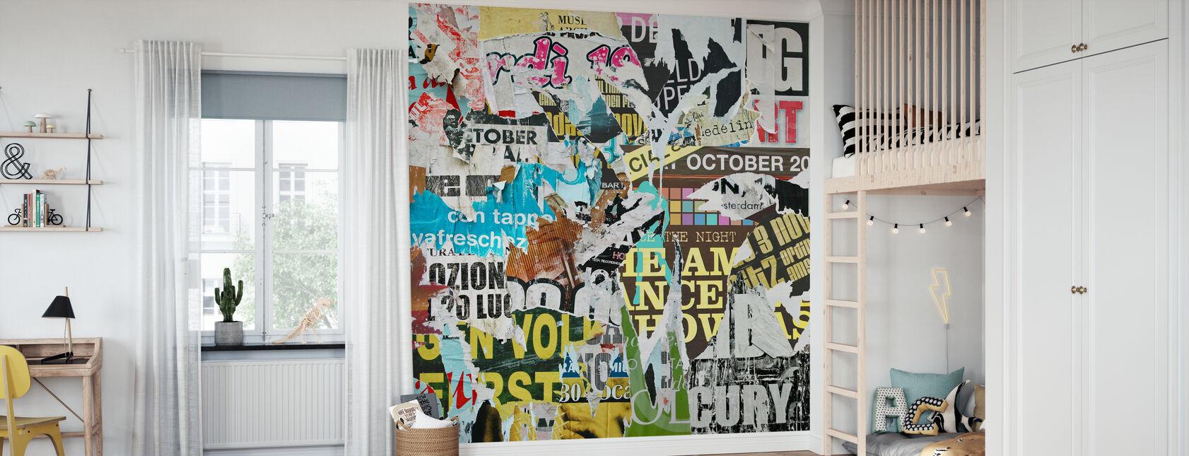 Old Torn Posters - Wallpaper - Kids Room