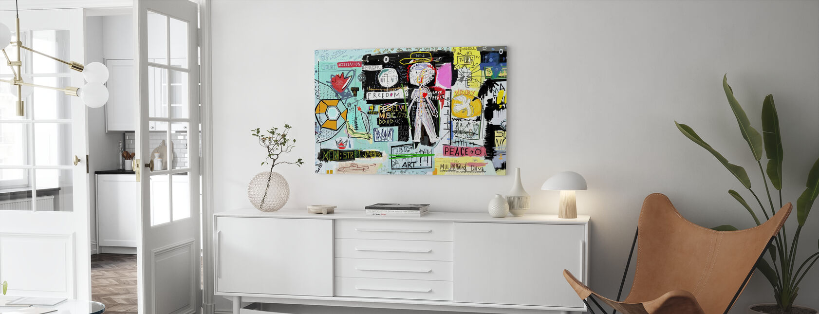 Acceleration Freedom Drive - Canvas print - Living Room