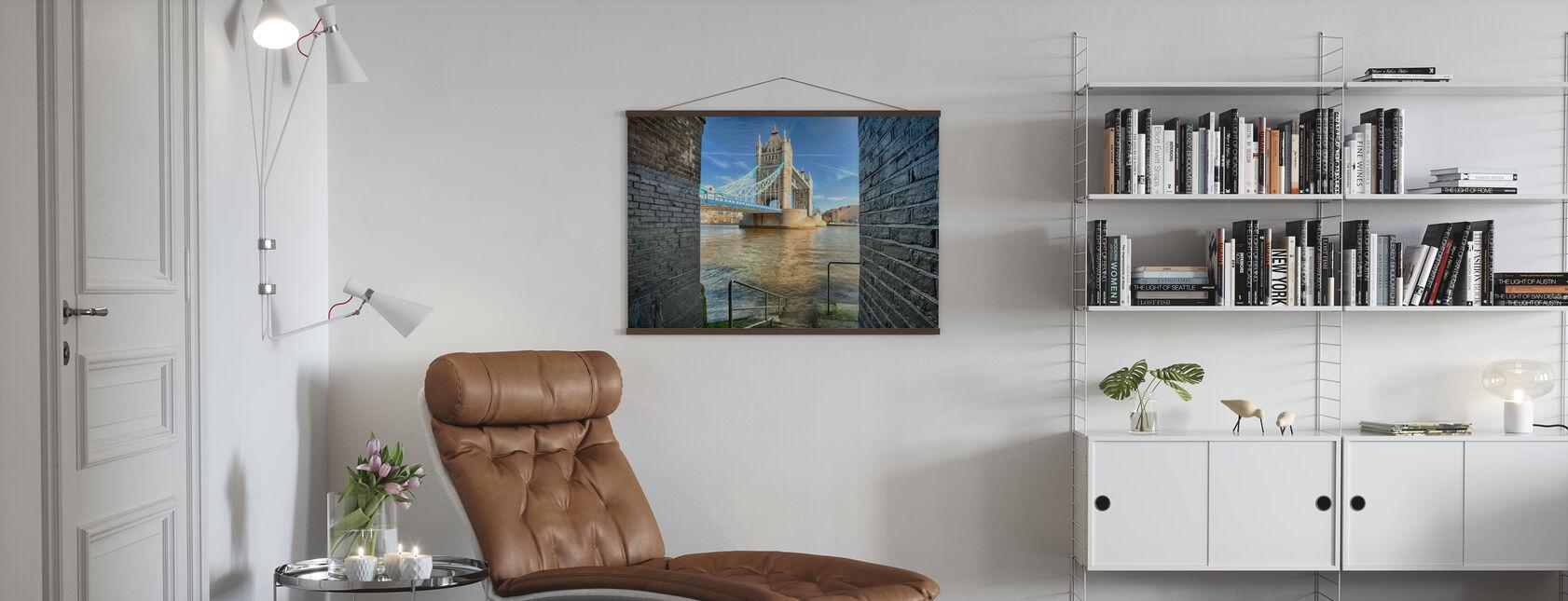 Alternative View on Tower Bridge - Poster - Living Room