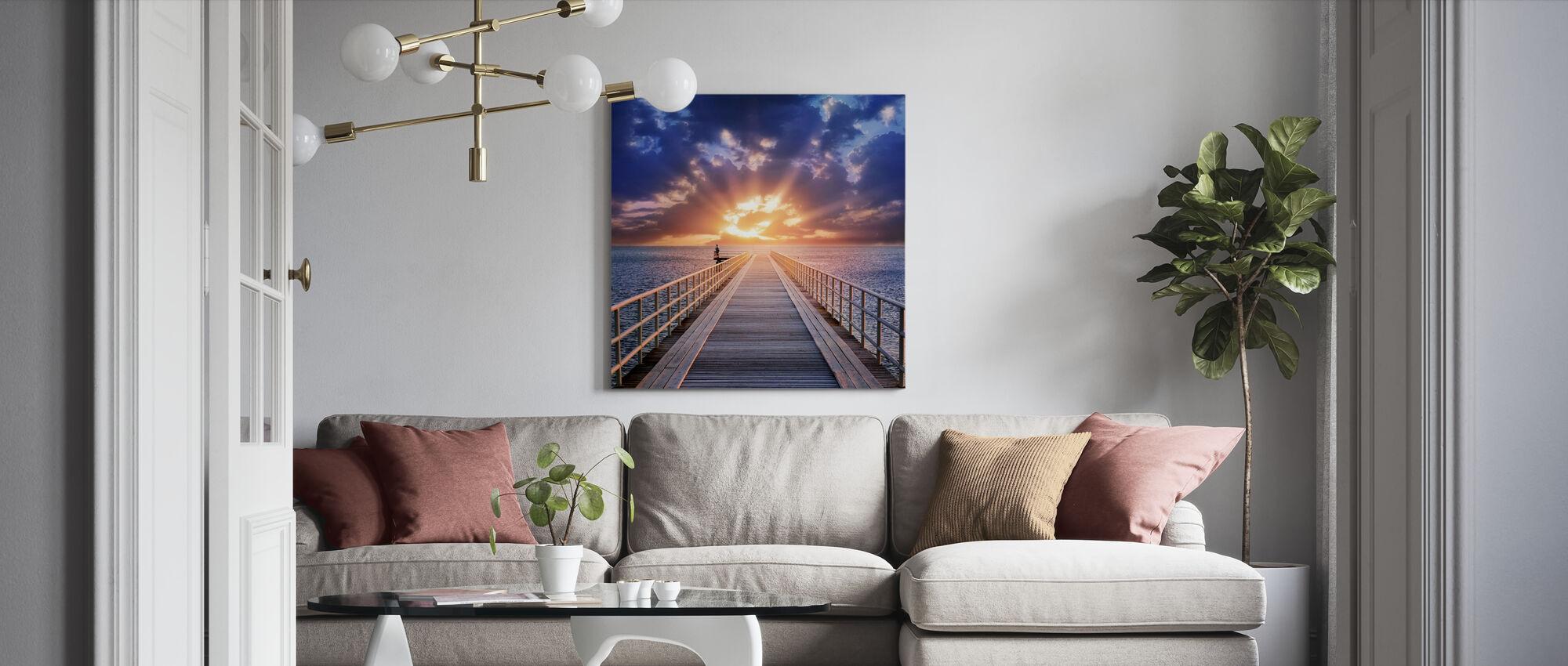 Bakgrundsbelysning bro - Canvastavla - Vardagsrum