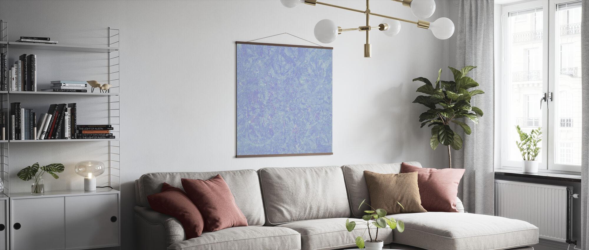 Blue Wash - Poster - Living Room