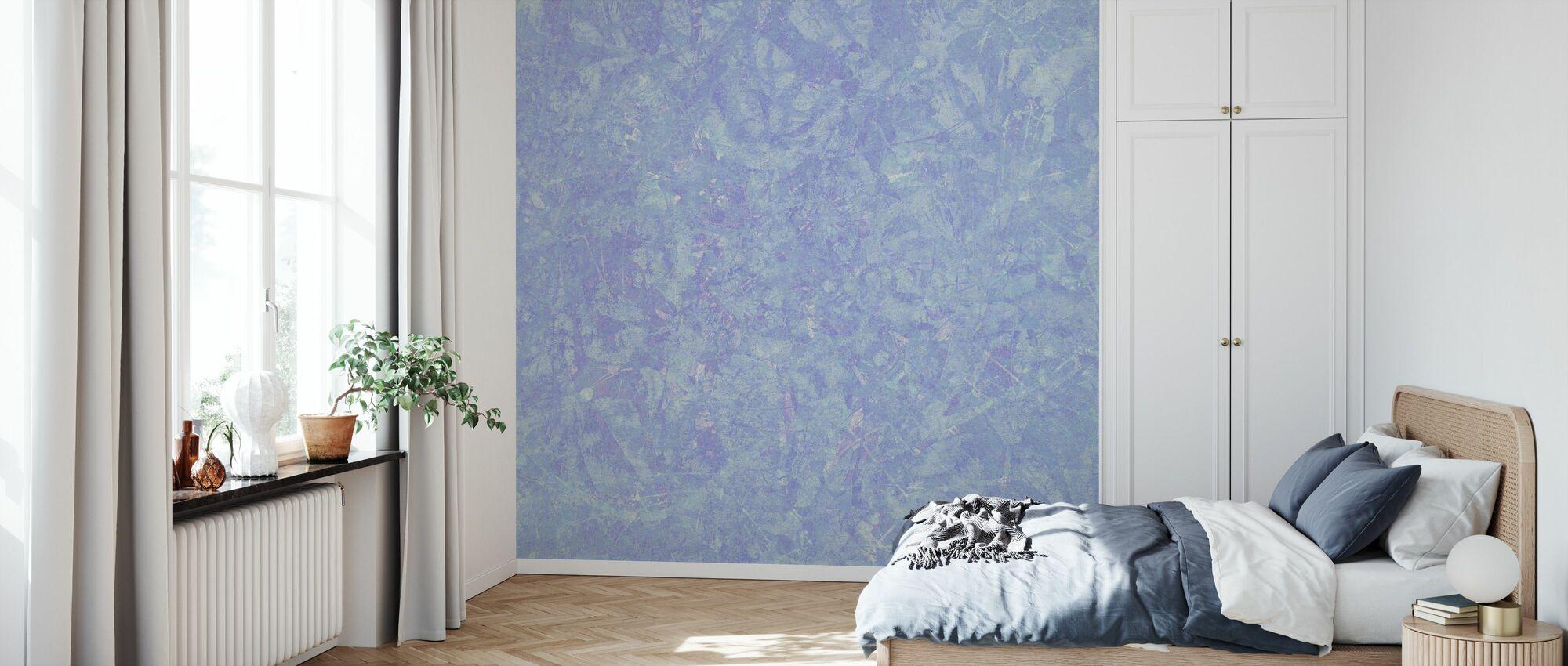 Blå Tvätta - Tapet - Sovrum