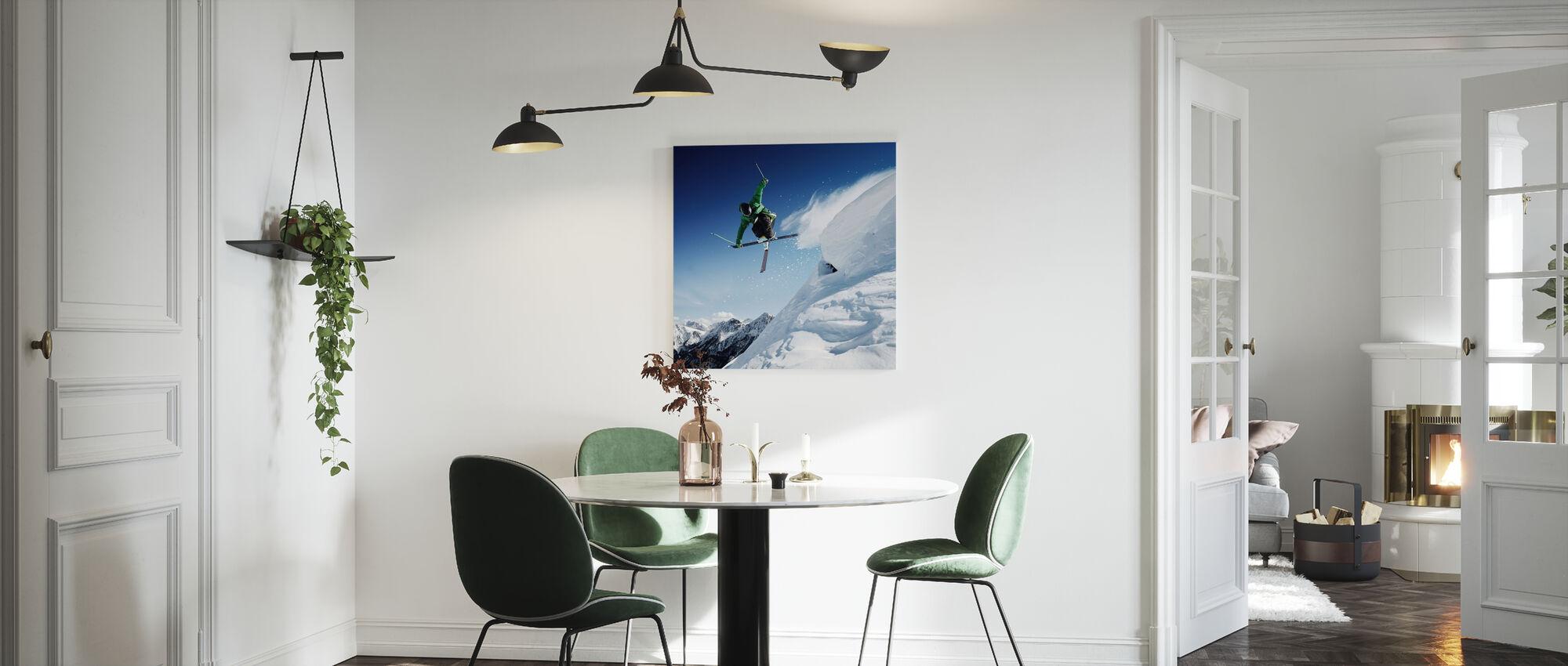 Jumping Skier - Canvas print - Kitchen