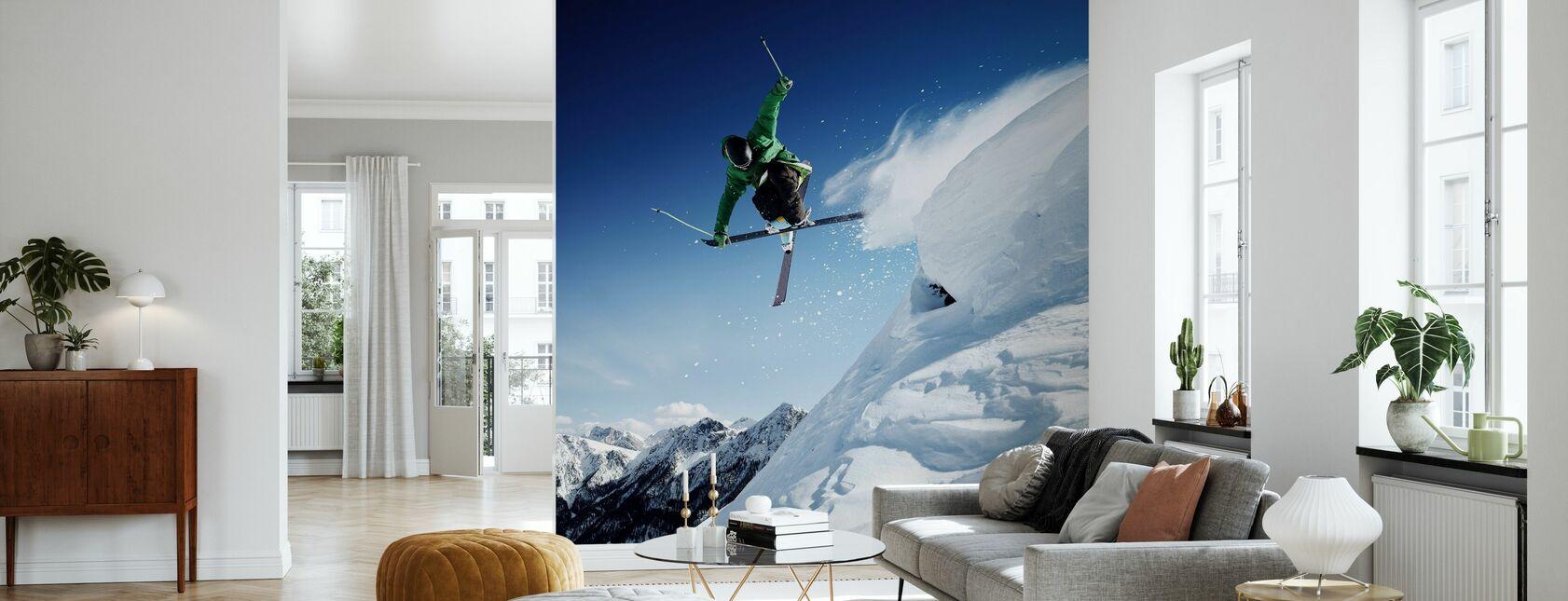Jumping Skier - Wallpaper - Living Room