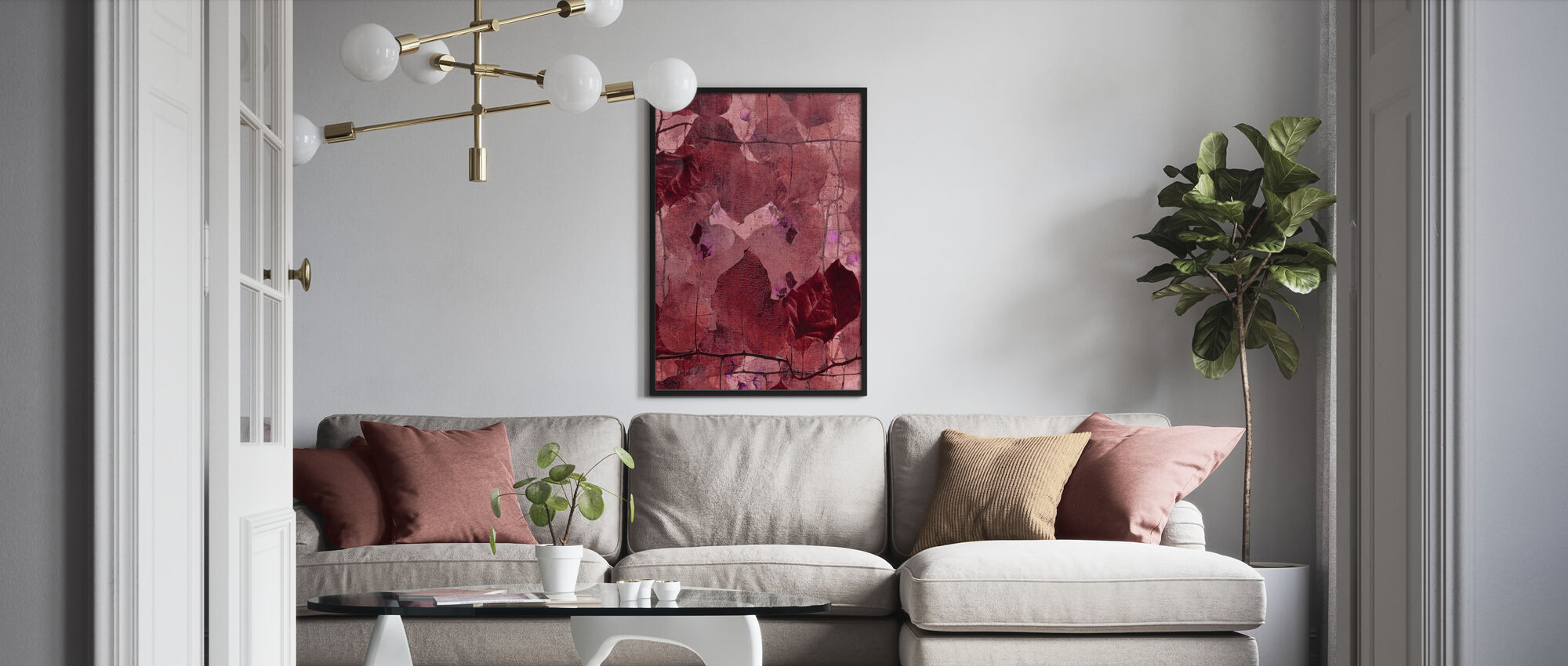 Bordeaux Grapevine - Poster - Living Room