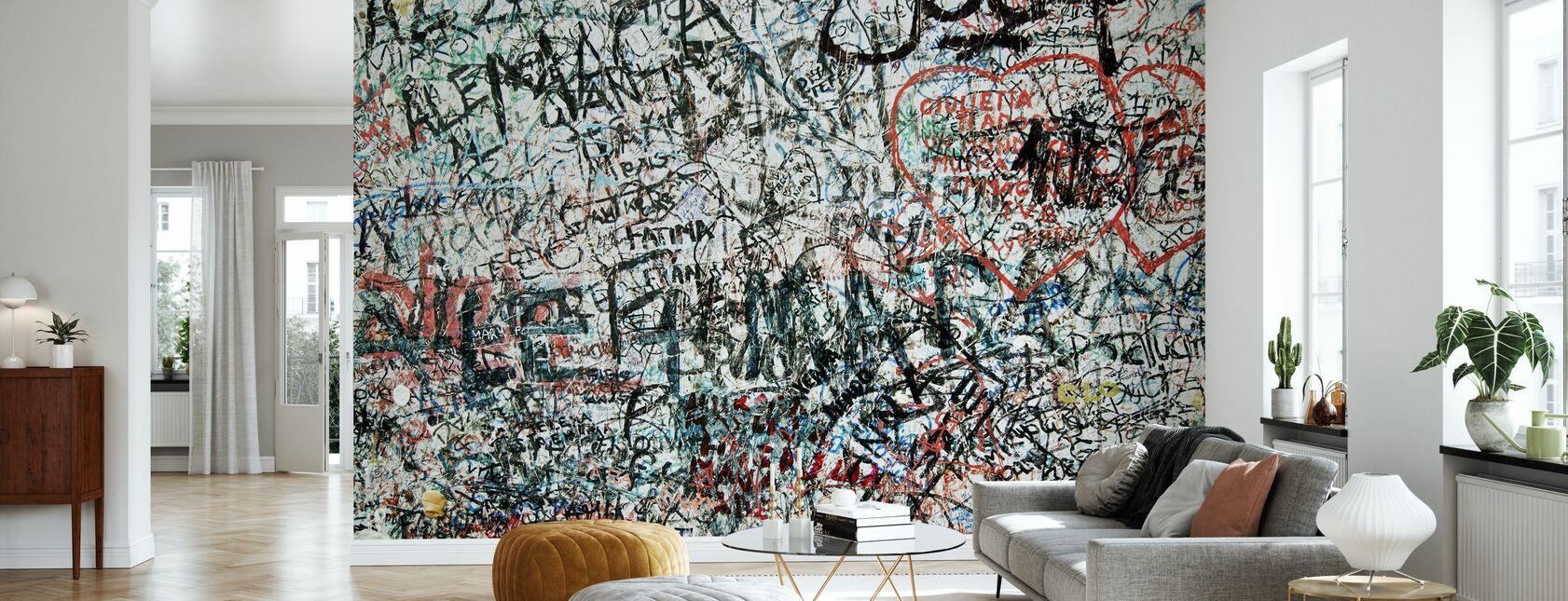 Muro de los enamorados - Papel pintado - Salón
