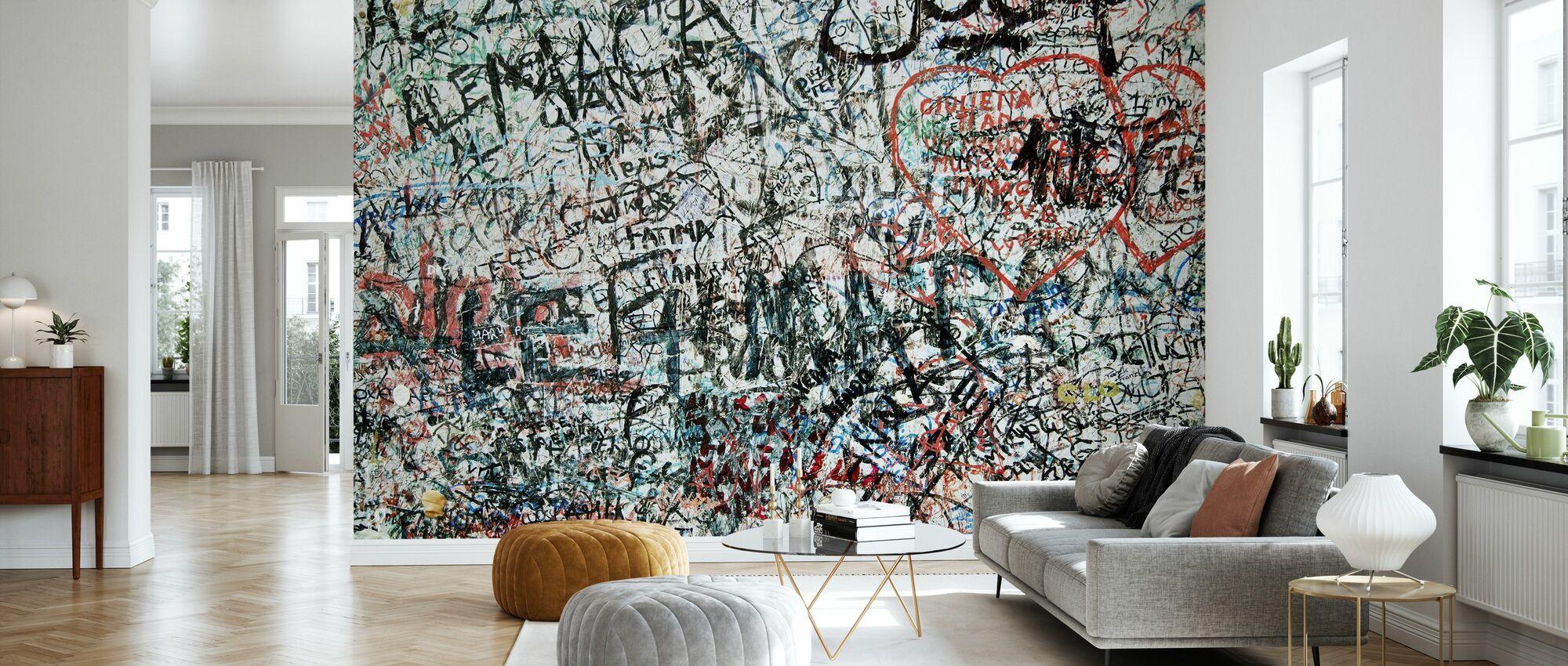 Muro degli amanti - Carta da parati - Salotto