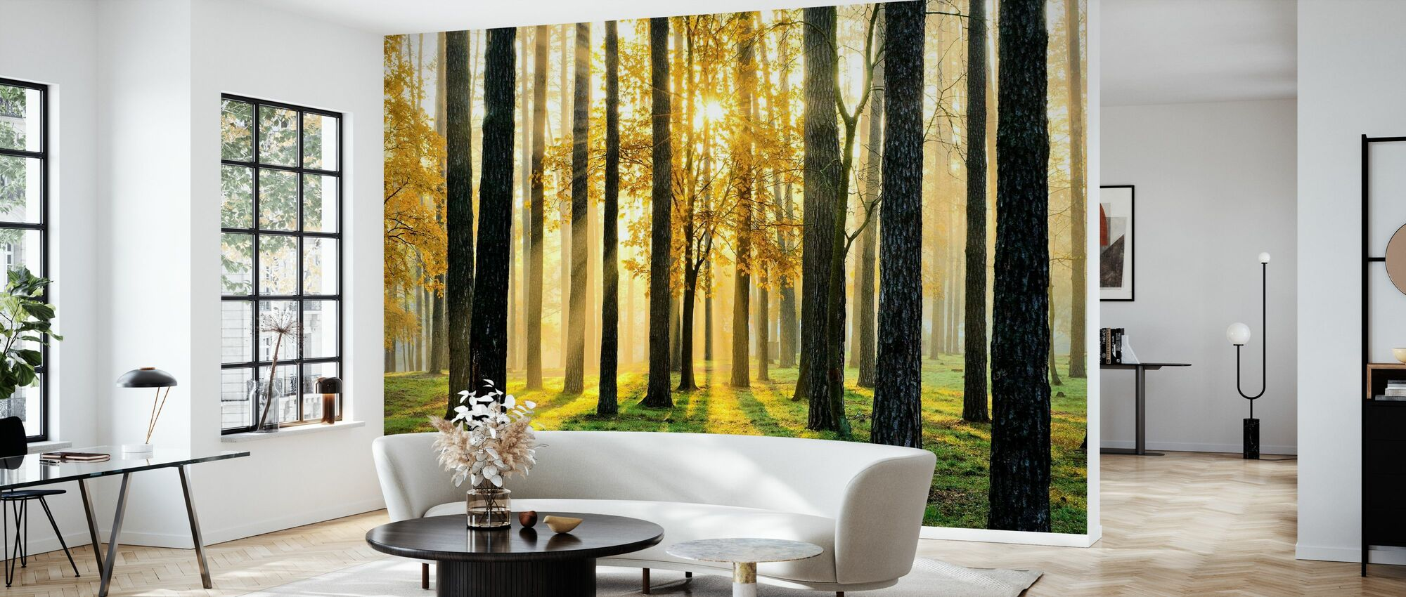 Morning Scene - Wallpaper - Living Room