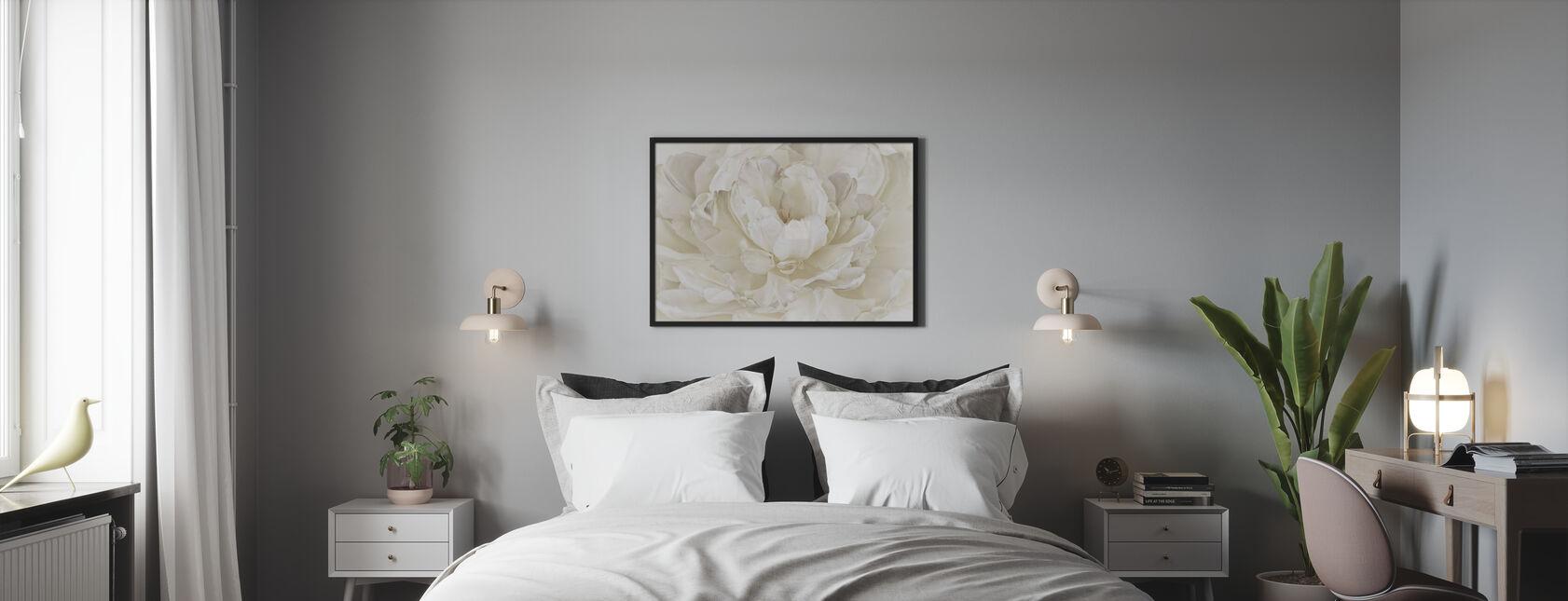 Tulipano doppio bianco avorio - Stampa incorniciata - Camera da letto