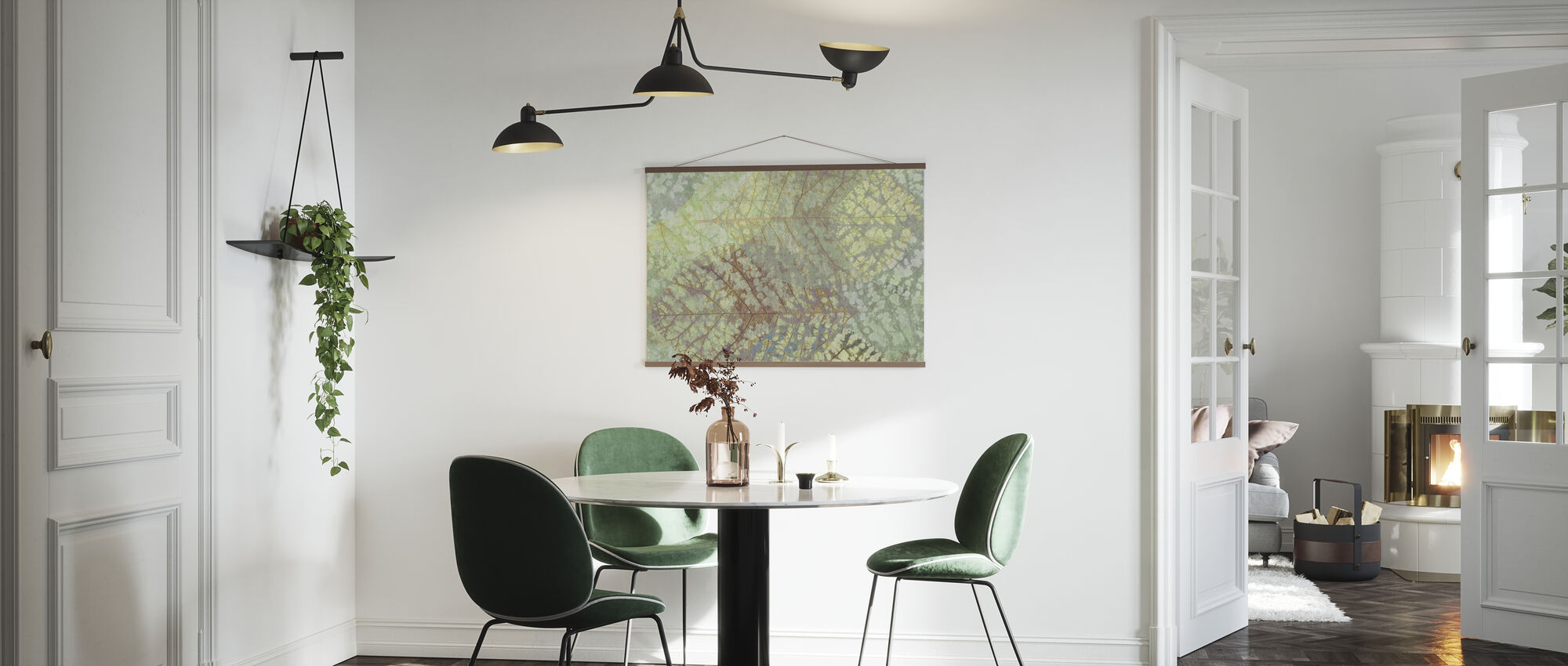 Lys bladmønster - Plakat - Kjøkken