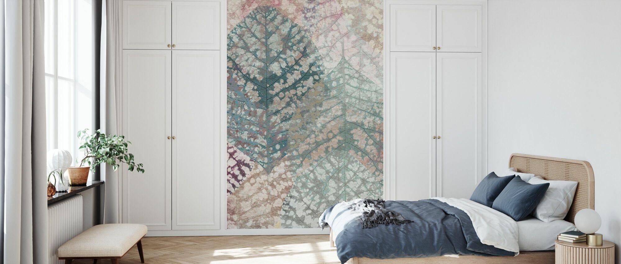 Pastellblatt-Muster - Tapete - Schlafzimmer