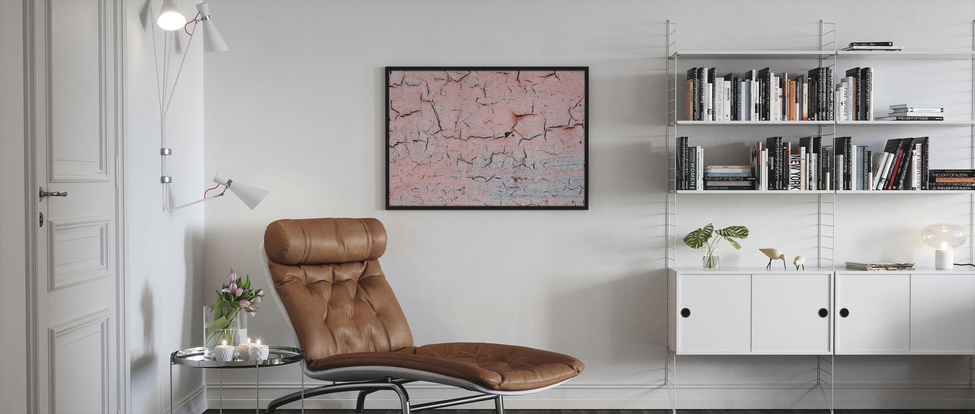 Pink Crackles - Poster - Living Room