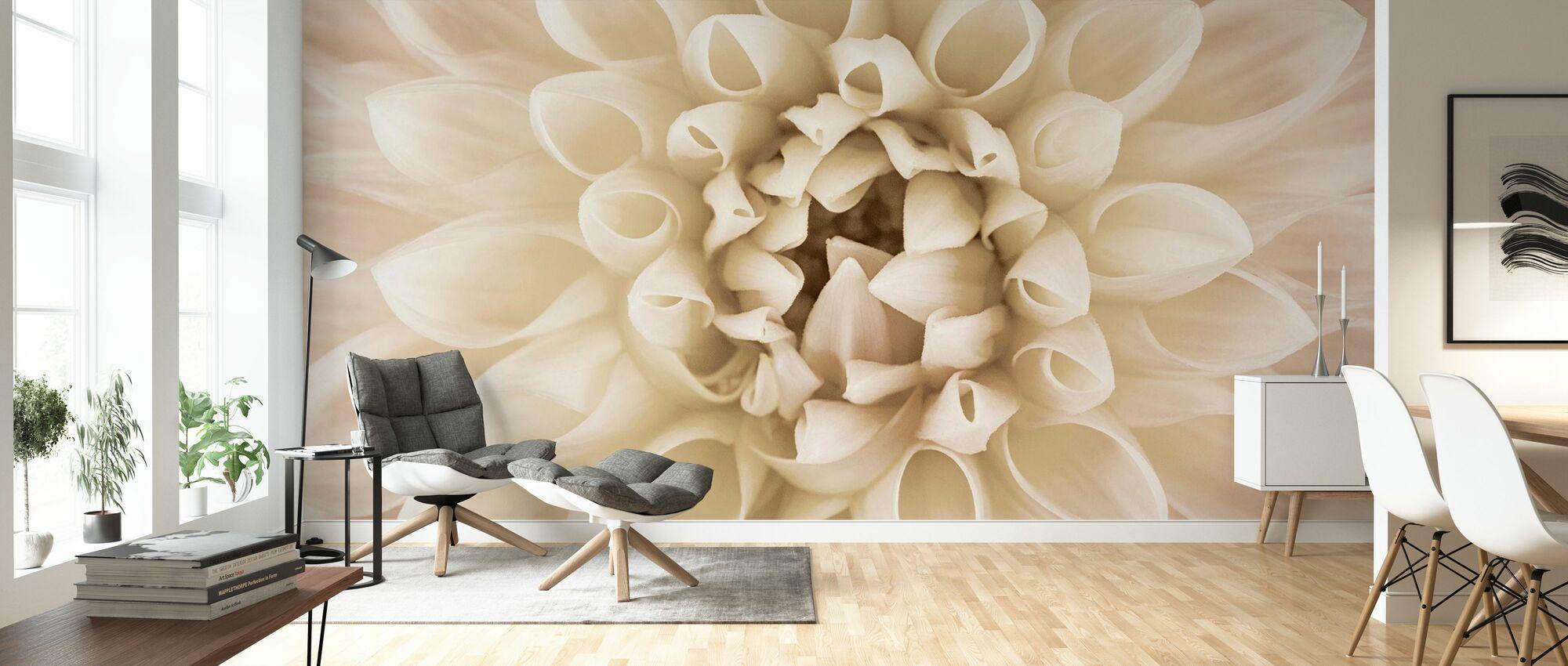 White Dahlia - Wallpaper - Living Room
