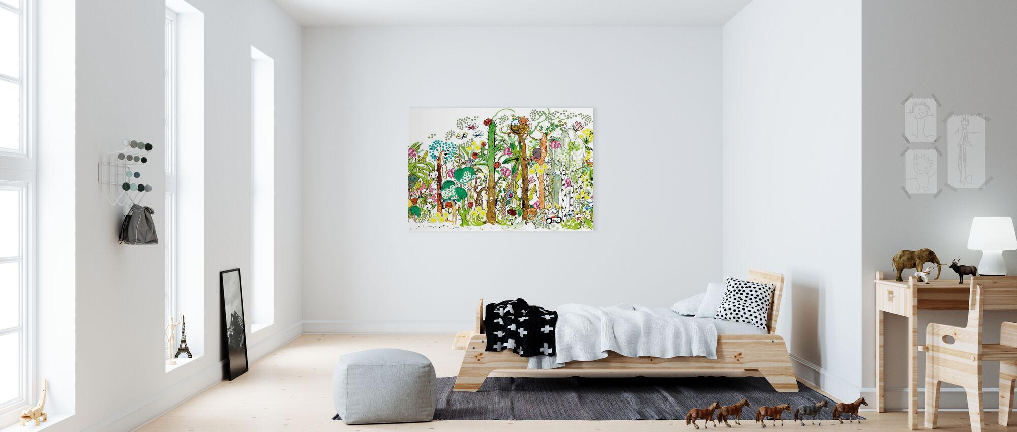 Skog XL - Lerretsbilde - Barnerom