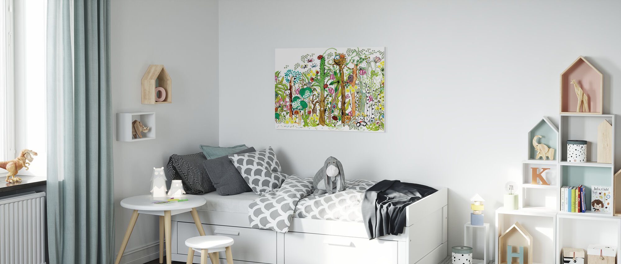 Forest XL - Canvas print - Kids Room