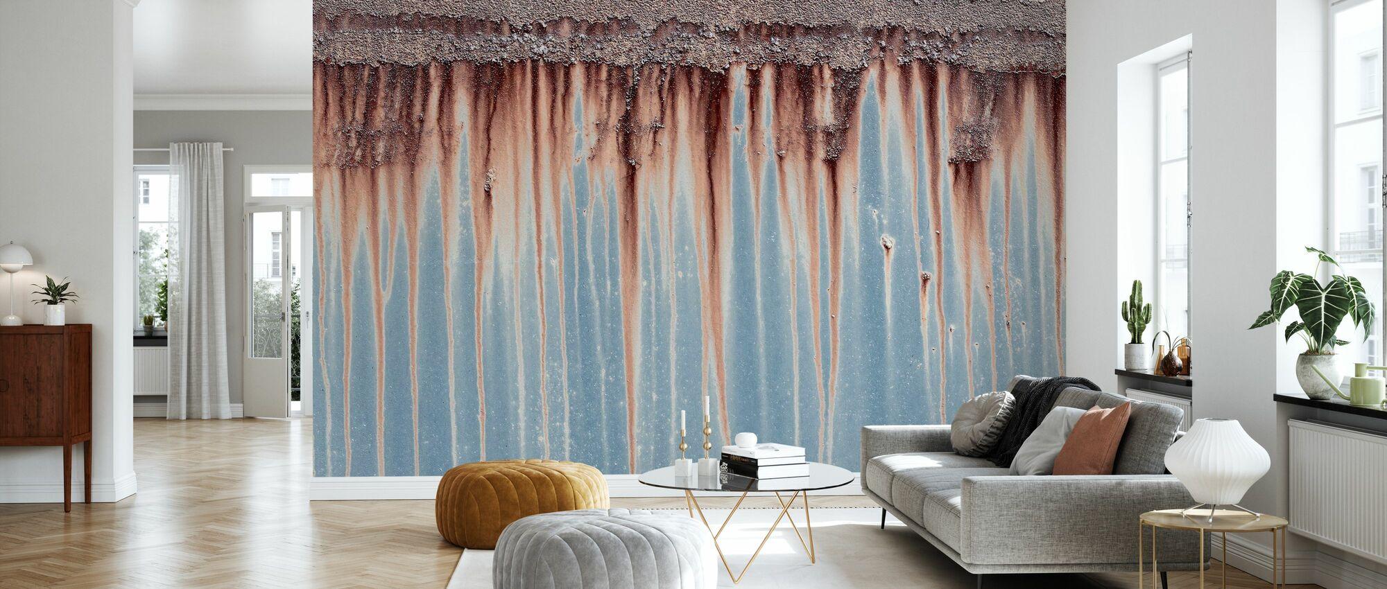 Blue Iron - Wallpaper - Living Room
