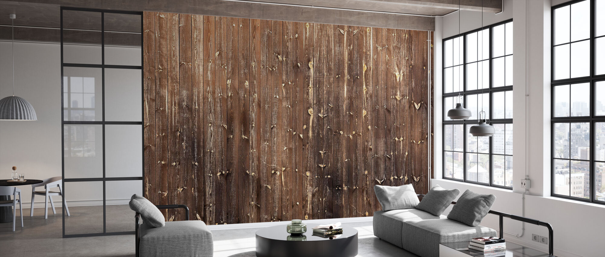 Brown Wooden Wall - Wallpaper - Office