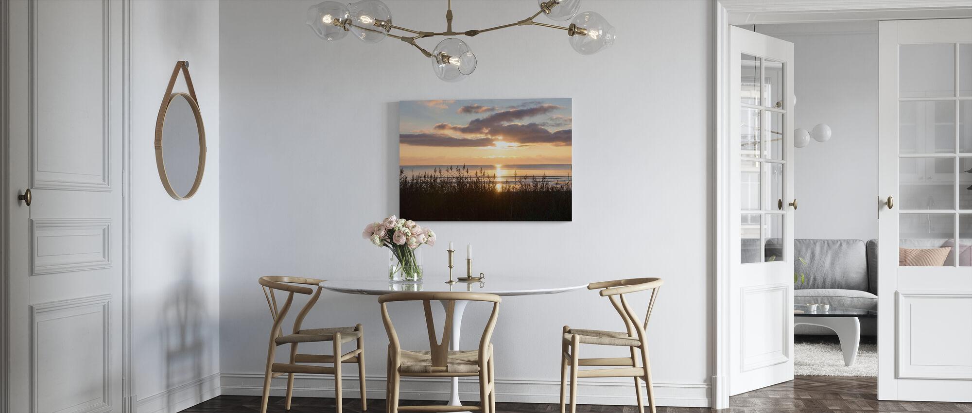 Grass and Sunset - Gotland - Canvas print - Kitchen