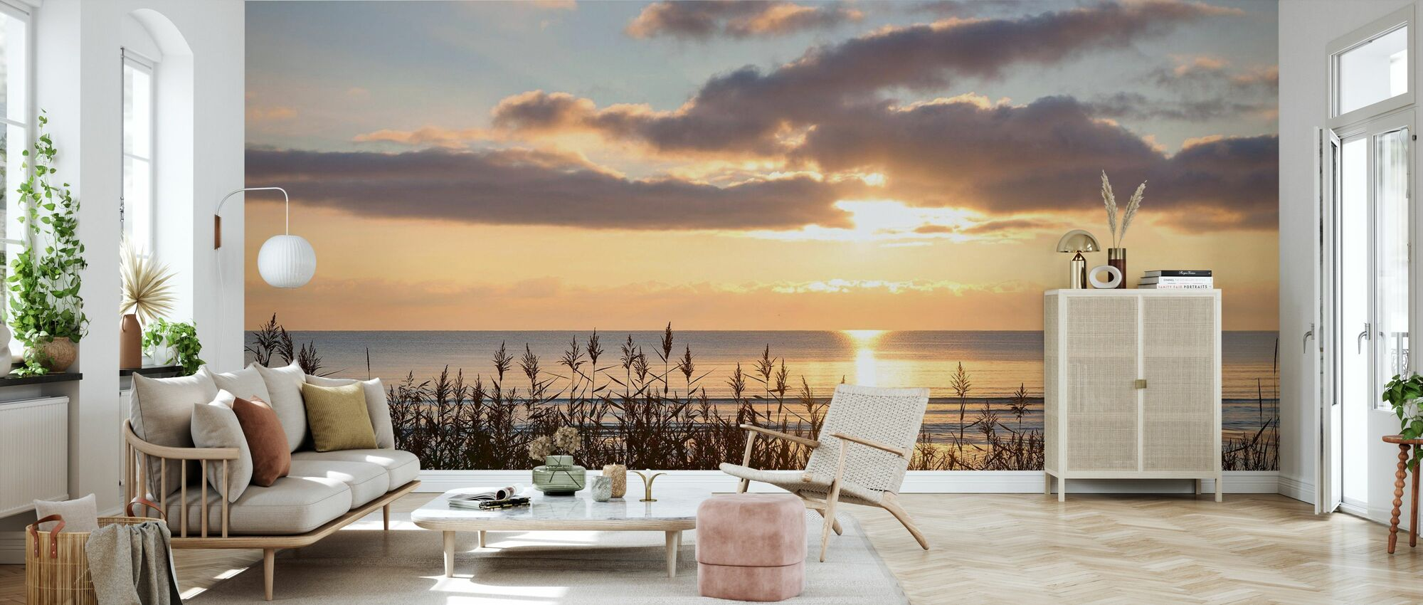 Ruoho ja auringonlasku - Gotland - Tapetti - Olohuone