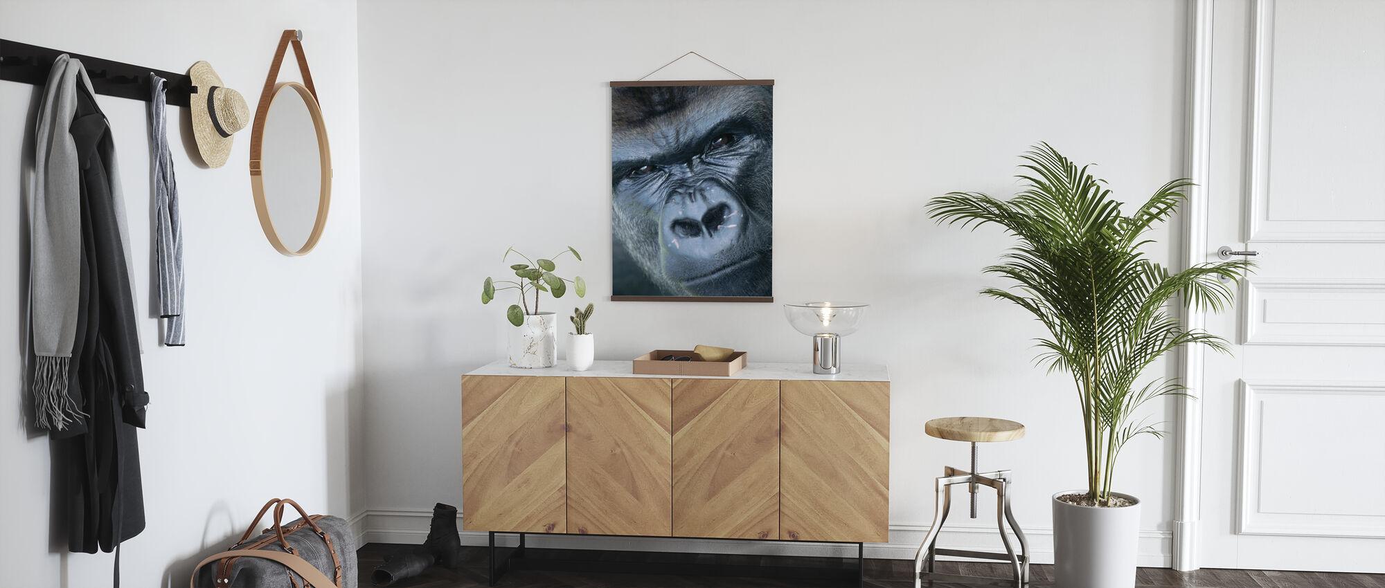 Gorilla Portrait - Poster - Hallway